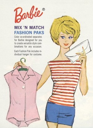 Vintage Barbie 1962 Fashion Paks
