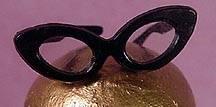 Vintage Barbie Black Glasses