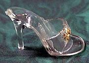 Vintage Barbie Gold Glitter Open Toe Shoes