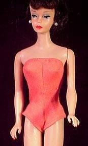 Vintage Barbie Doll Accessories Coral Swimsuit