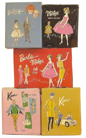 Vintage Barbie Doll Cases