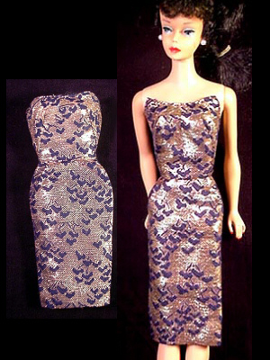 Vintage Barbie Fashion Pak Lame Sheath (1963)