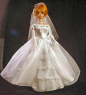 Vintage Barbie Long White Gloves