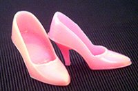 Vintage Barbie Pink Closed Toe Heels