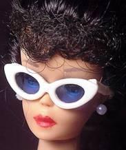 Vintage Barbie White Sunglasses