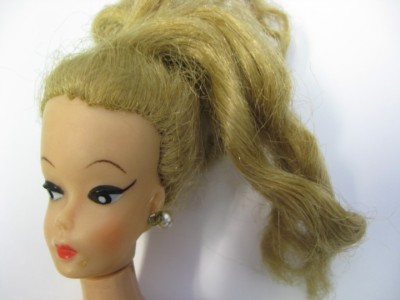 Barbie no bangs white irises curved eyebrows