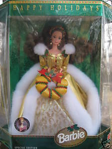 Barbie 1994 Happy Holidays 35th Anniversary Brunette