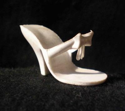 white shoe with bow
