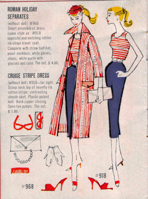 roman holiday/cruise stripes from vintage Barbie catalog