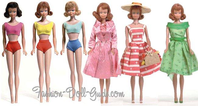 Vintage Straight Leg Midge Dolls