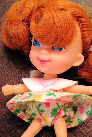 Trikey Triddle wearing Floral Dress